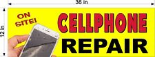 """NEW!  PERFORATED WINDOW VINYL DECAL 12"""" X 36"""" CELL PHONE REPAIRS ON SITE"""