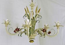 CHANDELIER LED 5 LIGHT ART.150 IRON BEATEN HANDICRAFT RUSTIC LIBERTY ANCIENT