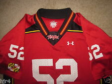 Maryland Terrapins Terps #52 Under Armour Football Jersey Youth Y-LG Large