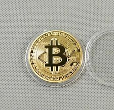 Gold Plated Commemorative Bitcoin Collectible Golden Iron Miner Coin Gift