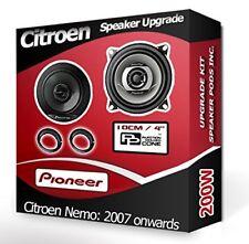 Citroen Nemo Front Door speakers Pioneer car speaker kit + adapter pods 200W