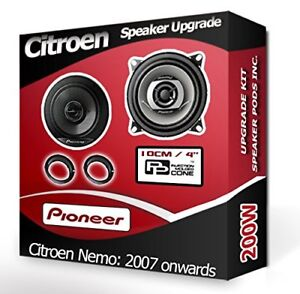 Citroen Nemo Front Door speakers Pioneer car speaker kit + adapter pods 200W