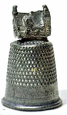 PEWTER THIMBLE HOUSE TOPPER BRANDED ENGLAND