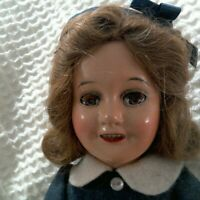 "Vintage 1930s 14"" Compo Ideal Deanna Durbin Dressed Doll"