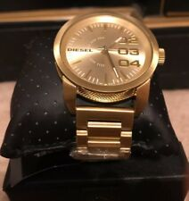 NWT! Diesel Double Down Gold Stainless Steel Men's Watch DZ1466