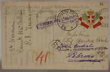 POSTA MILITARE 76 15.9.1917 FRANCHIGIA CON TIMBRO DI ARRIVO #XP418E