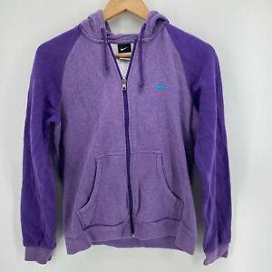 Nike Hoodie Women's L Purple Full Zip Hoodie Pockets