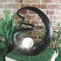 Solar Led Light Decorative Medusa Ornament Outdoor Patio Deck Garden Feature