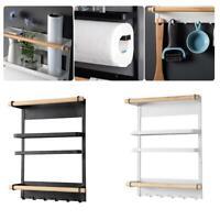 Kitchen Refrigerator Side Storage Holder Magnetic Organizer Rack Shelf F3X1