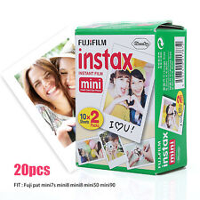 20pcs Fujifilm Instax White Instant Film For Fuji Mini 7s 8 25 50 90 Camera