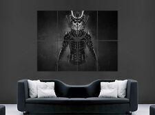 Espada Samurai de Cráneo Esqueleto Guerrero imagen de Póster Pared Arte Grande
