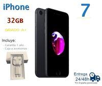 IPHONE 7 32GB NEGRO MATE REACONDICIONADO LIBRE / GRADO A+ / CAJA Y ACCESORIOS