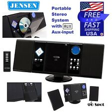 Jensen AM/FM Radio CD Player Portable Stereo System w/ Aux-input Wall Mountable