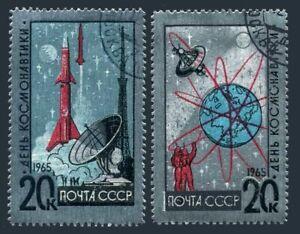 Russia 3022-3023,CTO.Michel 3042-3043. Cosmonauts' Day 04.12.1965,Foil