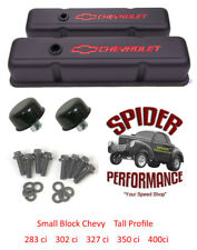 65-86 Impala Monte Carlo Caprice small block BOWTIE BLACK tall valve cover kit