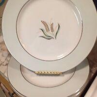 Mid Century Narumi Fine China Olivia Pattern Dinner Plates 10.5 Inch Set Of Four