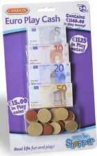 Casdon PLAY MONEY EUROS € Toy Cash Notes/Coins Bank/Shop Toddler/Child  BN