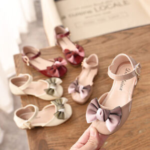 Toddler Kid Baby Girls Bowknot Princess Dress Shoes Casual Walk Trainner Sandals