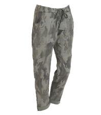 Italian Cotton Camouflage Cargo Trousers Khaki