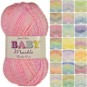 James Brett Baby Marble DK Knitting Yarn 100g - Complete Range