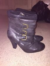 Ankle Boots/knit/buckle/pewterBnwob Size 4 Offers Welcome +free Gift