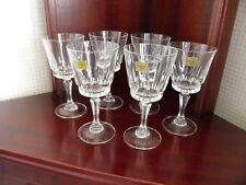 "VINTAGE LUMINARC ""VICTORIA"" VERRERIE D'ARQUES FRANCE 6 SMALL WINE GLASSES"