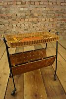 60er Zeitungsständer Servierwagen Barwagen Tablett Vintage Beistelltisch 50er