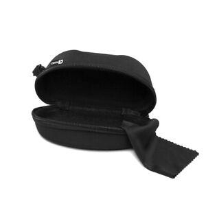 Zipper Sunglasses Case Box Black Hard Shell Portable Eyeglasses Protector