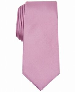 Alfani Men's Pink Solid Texture Skinny Slim Neck Tie Silk Accessory $55 #280