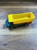 1969 Hot Wheels Redline The Heavyweights Green Dump Truck Vintage Mattel