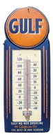 LARGE 15 GULF NO-NOX Gasoline and Oil Vintage Style Thermometer Sign Gas Service