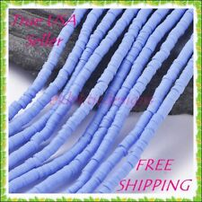 6mm 1 Strand 1mm Periwinkle Heishi Clay Polymer Disc Spacer Beads FREESHIP 32