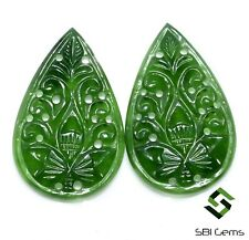 Natural Sarpantine Hand Made Carving 35x22 mm Green Loose Gemstone 45.23 Cts