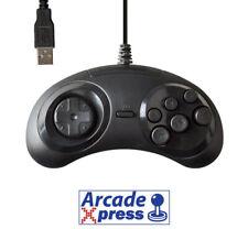 Mando Sega Mega Drive USB Genesis Controller Pad Stick Negro PC