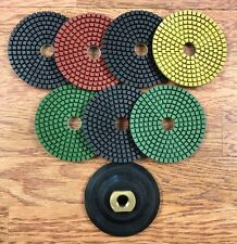 "Diamond Polishing Pads for Granite and Marble Wet 4"" Premium Set (8 Pieces)"