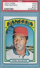 1972 TOPPS BASEBALL CARD HIGH #767 TOM McCRAW RANGERS PSA GRADED 9 MINT OC *2691