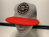 Brixton Supply Trade Mark SnapBack Red Grey Baseball Cap Hat VGC
