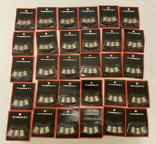Wholesale Crafts Supply Lot of 90 Silver Metal Thimbles Sewing Notions