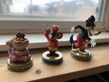 Disney McDonalds 100 Years Of Magic Toy Figure Lot - Cat Mouse Big Bad Wolf
