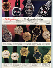 1972 PAPER AD 2 PG Mathey Tissot Wrist Watch Chronograph Gold Rugged Look