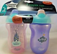 Tommee Tippee Spill Proof Sippie Cup 2 Pack 9m+ BPA Free NEW! FREE SHIPPING