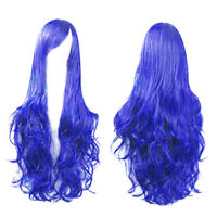 Sexy Women Long Wavy Curly Hair Anime Party Xmas Cosplay Wig Heat Resistant 80cm