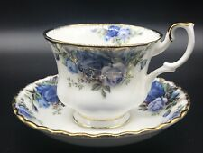 """C1987 ROYAL ALBERT CUP & SAUCER """"MOONLIGHT ROSE"""" VERY GOOD UNUSED CONDITION."""