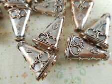 4 Copper Plated 2 to 1 Strand Dotted Triangle Spacer Bars Findings 30210