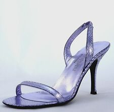 YSL YVES SAINT LAURENT ANACONDA Violet MIROIR Patent Leather Pump Sandals sz 41