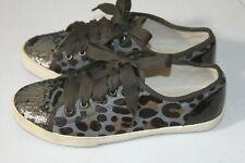 *B Kurt Geiger Women's Lucca Leopard Lace Ups Trainers - Size 37  6US