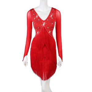 Latino salsa Kleid TanzKleid Standard LateinKleid Latein Strass Turnierkleid 493