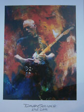 David Gilmour Poster Lithograph 2015-rattle that lock live no cd lp dvd pompei