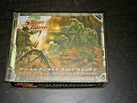 STARSHIP TROOPERS M-1A4 POWER SUIT SQUAD 8 TROOPERS NOS MONGOOSE KIT 910001
