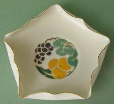 Belleek Willets Art Deco Decorative Dish with Ruffled Rim, Green Mark, 1920s